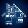 Seamless text house design Stock Photos