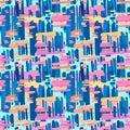 Seamless textile pattern print .Fashion trendy expressive