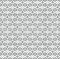 Seamless textile quilt pattern in white and grey colors Royalty Free Stock Photography