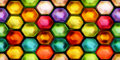 Seamless texture of abstract shiny colorful 2D illustration Royalty Free Stock Photo