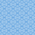 Seamless Texture on Azure. Ornamental Backdrop. Royalty Free Stock Photo
