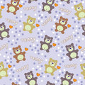 Seamless texture with bears Stock Image