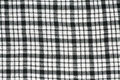 Seamless texture of black grey and white blocked tartan cloth Stock Photos