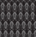 Seamless texture on blackboard with cicadas. Royalty Free Stock Photo