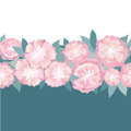 Seamless texture border with gentle light flowers Royalty Free Stock Photo