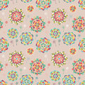 Seamless texture with bright colorful flowers endless floral pattern for beautiful design Royalty Free Stock Images