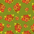 Seamless texture  with bright flowers Stock Photos