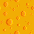 Seamless texture of cheese with holes Royalty Free Stock Photo