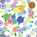 Seamless texture of color gears Royalty Free Stock Photography
