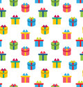 Seamless Texture of Colorful Present Boxes Royalty Free Stock Photo