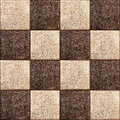 Seamless texture combination of leather squares image in vintage style Royalty Free Stock Photography