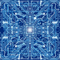 Seamless texture of computer circuit board or electronic environ Royalty Free Stock Photo