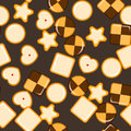 Seamless texture with cookies.