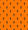 Seamless texture with crosses of graves illustration abstract vector Royalty Free Stock Photos