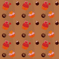 Seamless texture  - cupcakes and chocolate Sweets Royalty Free Stock Image