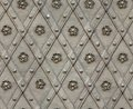 Seamless texture door bind with iron nailed metal Royalty Free Stock Photo