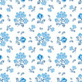 Seamless texture flowers in russian style Royalty Free Stock Photo