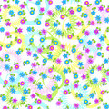 Seamless texture of flowers, stars and rings Royalty Free Stock Images