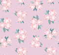Seamless texture with gentle pink flowers Stock Photography