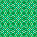 Seamless texture with geometric shapes in the form of flowers on a green background