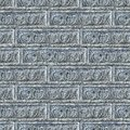 Seamless texture of gray decorative bricks wall tileable Stock Photos