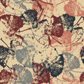 Seamless texture of leaves on light background