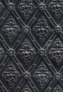 Seamless texture nailed metal floral decoration Royalty Free Stock Photo