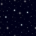 Seamless texture night sky with lots of stars celestial background multiple sparkling glittering on a dark blue in the Stock Photo