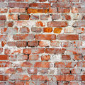 Seamless texture of an old brick wall. Grunge architecture patte Royalty Free Stock Photo