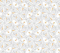 Seamless texture with outlined decorative flowers Royalty Free Stock Photo