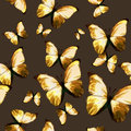 Seamless texture pattern polygonal brown butterfly