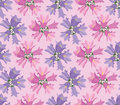 Seamless texture with pink lilac flowers Stock Photography