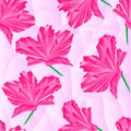 Seamless texture Pink rhododendron polygons vector