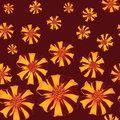 Seamless texture with red stripy flower ornament Royalty Free Stock Images