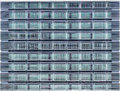Seamless texture resembling windows of a high rise building Stock Image