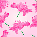 Seamless texture Rhododendron pink polygons vector