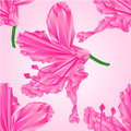 Seamless texture Rhododendron polygons pink flower vector