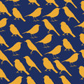 Seamless texture with silhouettes of birds.