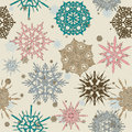Seamless texture with snowflakes. Royalty Free Stock Photography