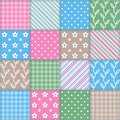 Seamless texture square patchwork pattern from pieces of cloth Stock Images