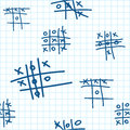 Seamless texture with tic-tac-toe. Royalty Free Stock Photography