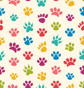 Seamless Texture with Traces of Cats, Dogs. Imprints of Paws Pet Royalty Free Stock Photo
