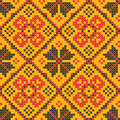 Seamless texture - Ukrainian cross-stitch ornament Royalty Free Stock Photos