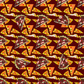Seamless texture. Vector color image of a pizza