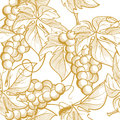 Seamless texture vector graphics depicting bunches of grapes and vine elements