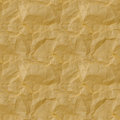 Seamless texture of yellow crumpled paper. seamless Royalty Free Stock Photo