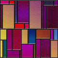 Seamless textured stained glass panel square colorful Royalty Free Stock Photo
