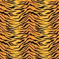 Seamless tiger stripe pattern. Royalty Free Stock Photo