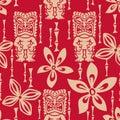Seamless Tiki Tapa Pattern Stock Image