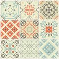 Seamless tile with colorful patchwork. Vintage multicolor pattern. Endless pattern can be used for ceramic tile, wallpaper, linole